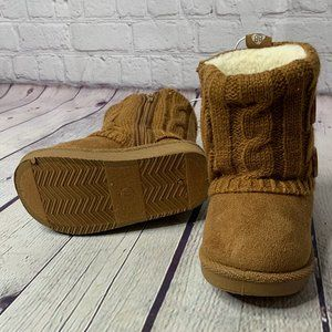 SteppingStones Baby Faux Suede Button Sweater Boot